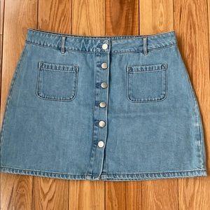 GARAGE denim skirt size L worn 2 times